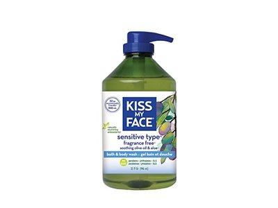 Kiss My Face Sensitive Type Bath and Body Wash, Fragrance Free, 32 fl oz