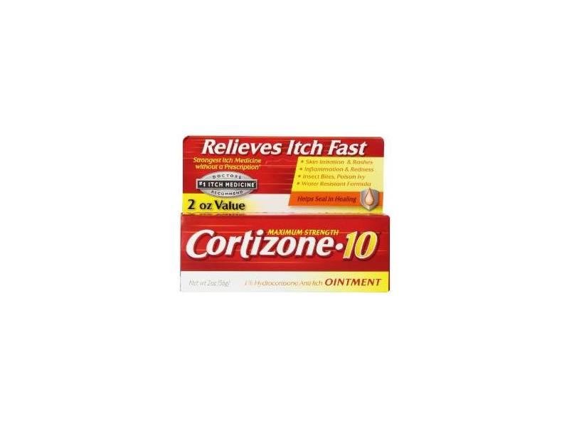 Cortizone-10 Maximum Strength 1% Hydrocortisone Anti-Itch Ointment, 2 oz