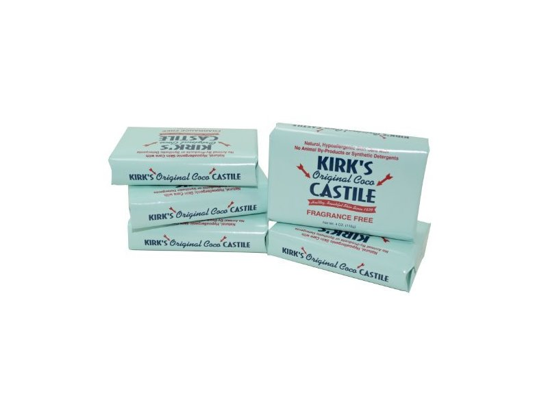 Coco Castile Bar Soap, Fragrance Free 4 Oz