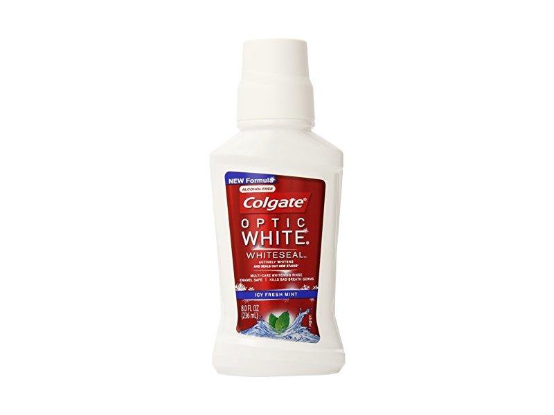 Colgate Optic White Whiteseal Mouthwash, Icy Fresh Mint, 8 Fluid Ounce (Pack of 6)