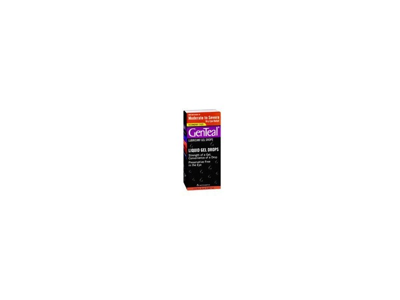 GenTeal Lubricant Gel Drops Moderate To Severe Dry Eye - 25ML (Pack of 2)