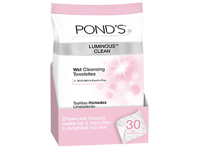 Pond's Luminous Clean Wet Cleansing Towelettes, Unilever