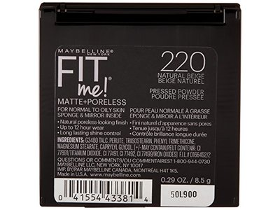 Maybelline New York Fit Me Matte + Poreless Powder, 220 Natural Beige, 0.30 Ounce - Image 4