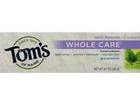 Tom's of Maine Whole Care Fluoride Toothpaste Spearmint,4.7oz..- 2 Count - Image 2