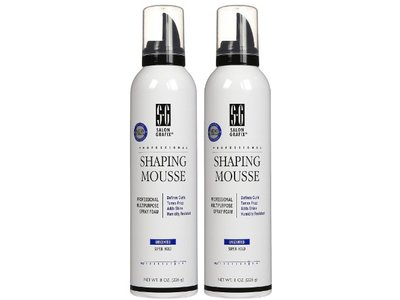 Salon Grafix Shaping Mousse Unscented Super Hold, 8 oz, 2 pk