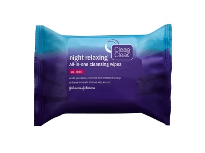 Clean & Clear Night Relaxing All-in-One Cleansing Wipes, 25 Count