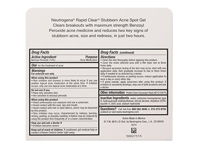 Neutrogena Rapid Clear Stubborn Acne Spot Gel, 1 Ounce - Image 5
