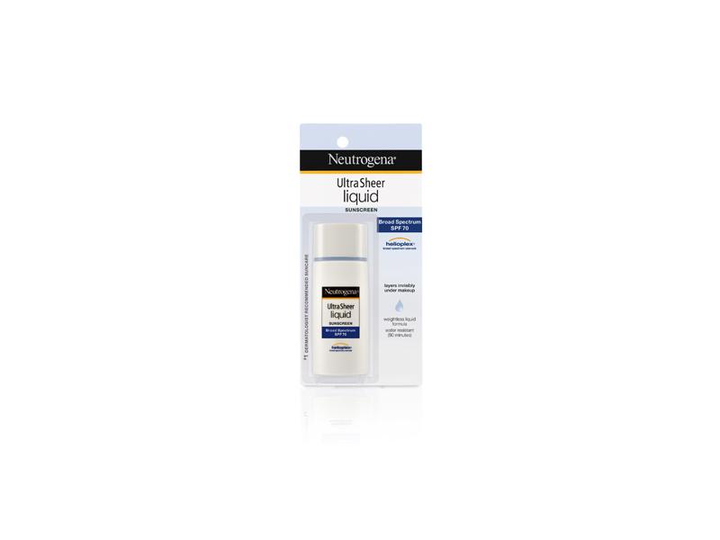 Neutrogena Ultra Sheer Liquid Daily Sunscreen Broad Spectrum SPF 70, Johnson & Johnson
