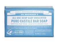 Dr. Bronner's All-One Hemp Baby Unscented Pure-Castile Bar Soap, 5 oz - Image 1