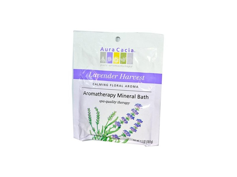 Aura Cacia Lavender Fields Aromatherapy Mineral Bath 2.5 oz packet