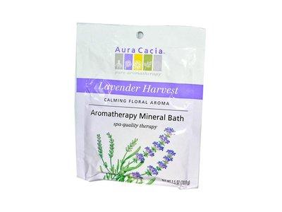 Aura Cacia Lavender Fields Aromatherapy Mineral Bath 2.5 oz packet