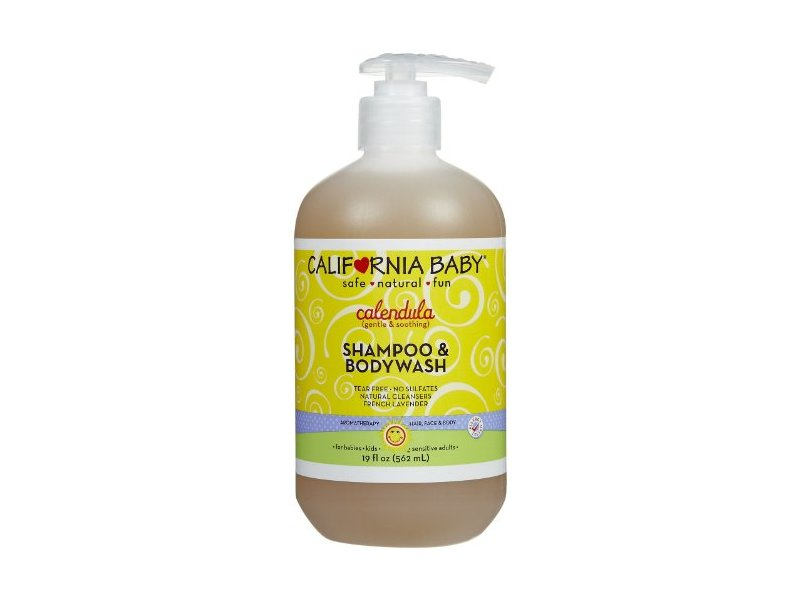 California Baby Calendula Shampoo and Body Wash, 19 Ounce