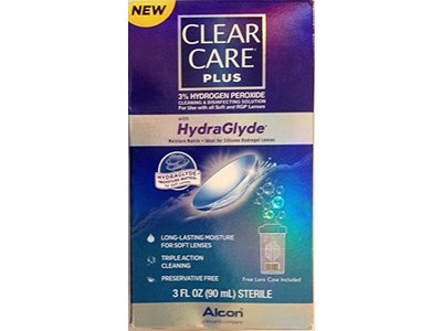 Alcon Clear Care Plus with Hydraglyde Cleaning & Desinfecting Solution, 3 Fl Oz