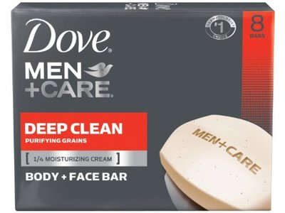 Dove Men+Care Body & Face Bath Bar, Deep Clean - Image 1