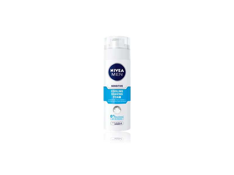 Nivea Men Cooling Shaving Foam, Sensitive, 200 mL
