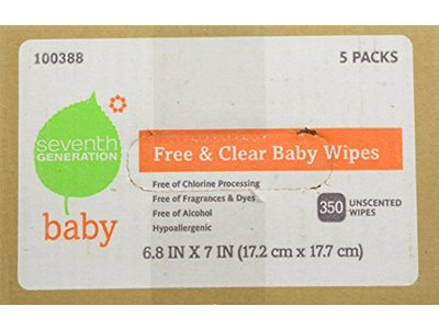 Seventh Generation Original Soft and Gentle Free and Clear Baby Wipes, 350 Count - Image 6
