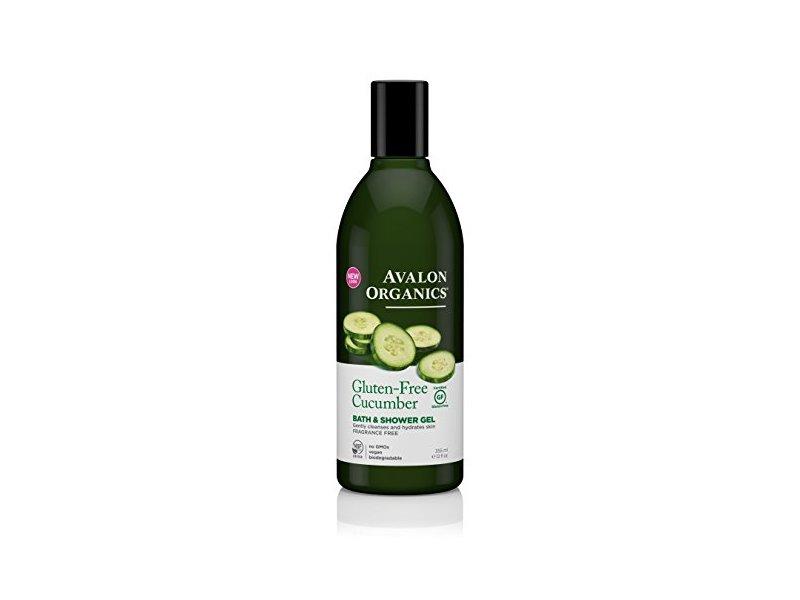 Avalon Organics Bath & Shower Gel, Gluten Free Cucumber, 12 Fluid Ounce