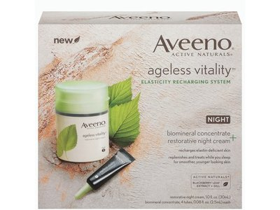 Aveeno ageless vitality elasticity recharging system night-restorative night /biomineral concentrate - Image 1