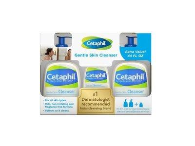 Cetaphil Gentle Skin Cleanser, 2/20oz + 4oz Bonus