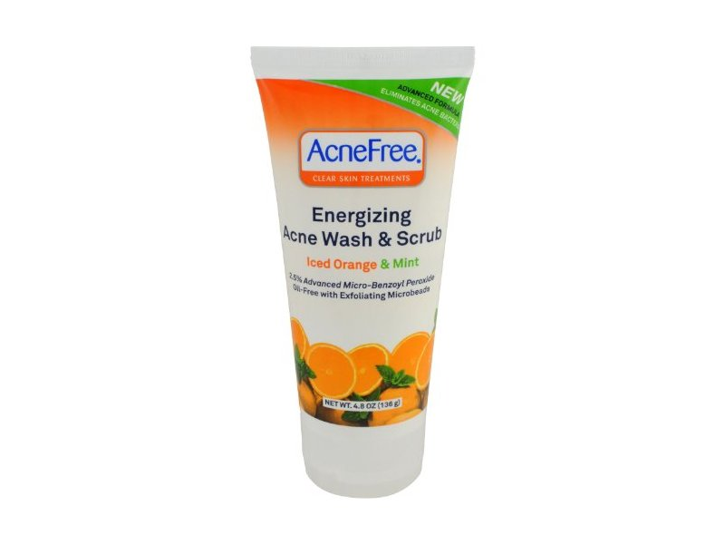 AcneFree® Energizing Acne Wash and Scrub, 4.8 Ounce