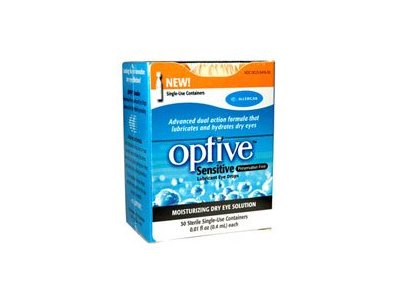 Refresh Optive Lubricant Eye Drops, 30 Single-Use Containers, 0.01 fl oz each