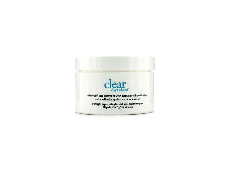 Philosophy Clear Days Ahead Overnight Repair Salicylic Acid Acne Treatment Pads, 60 Count