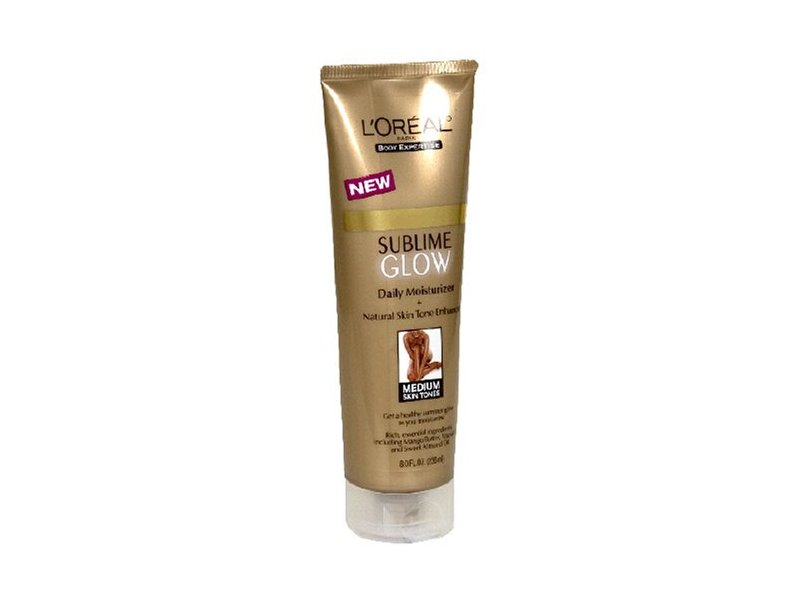 L'Oreal Body Expertise Sublime Glow Daily Moisturizer and Natural Skin Tone Enhancer, Medium Skin Tones, 8 oz