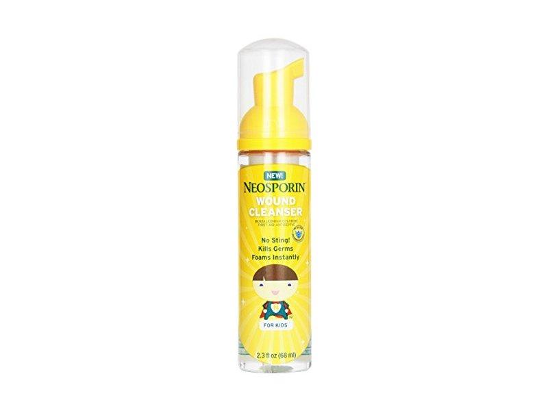 Neosporin Wound Cleanser Kids Antiseptic Foam, 2.3 fl oz