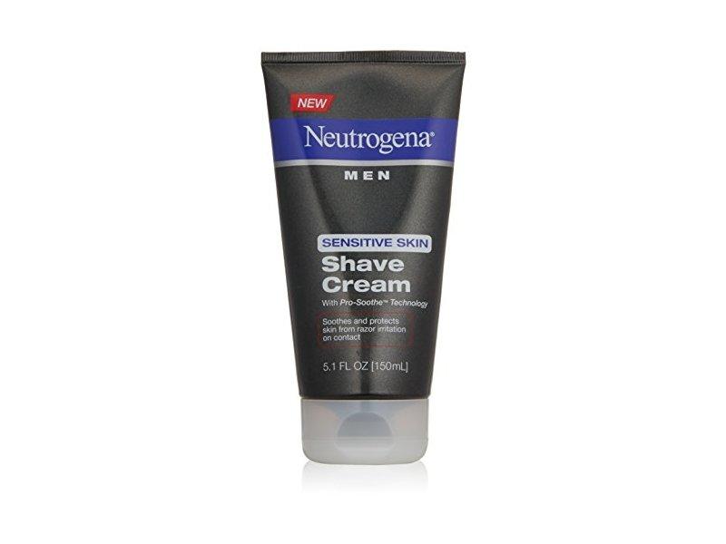 Neutrogena Men Sensitive Skin Shave Cream, 5.1 Ounce