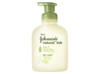 Johnson's Natural Kids 2-in-1 Hand And Face Foaming Wash, Johnson & Johnson - Image 1