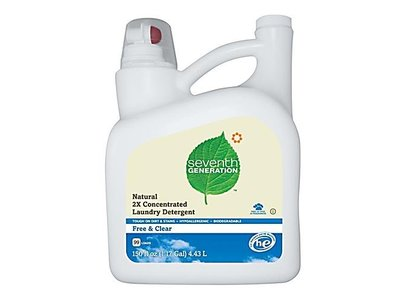 Seventh Generation Liquid Laundry 2x Ultra Concentrate - Free and Clear, 150-Ounce