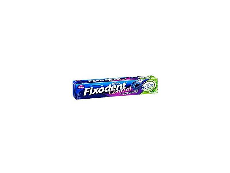 Fixodent Denture Adhesive Cream, Plus Scope Flavor, 2 oz