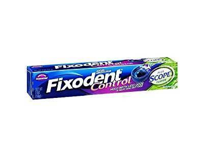 Fixodent Denture Adhesive Cream, Plus Scope Flavor, 2 oz - Image 1