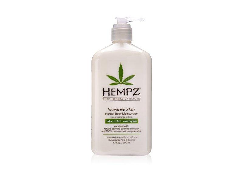 Hempz Sensitive Skin Herbal Body Moisturizer, Off White, 17 Fluid Ounce