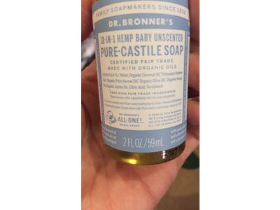 Dr  Bronner's Baby Unscented Pure-Castile Liquid Soap, 2 fl