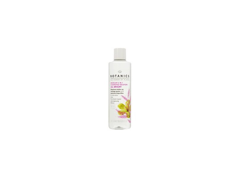 Boots Botanics All Bright Micellar 3 in 1 Cleansing Solution 8.45 fl oz
