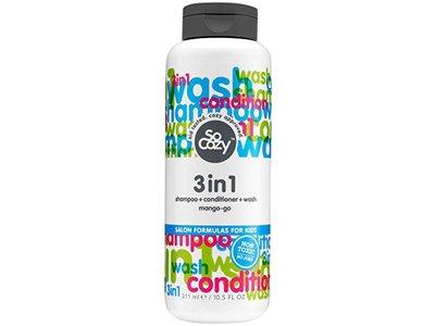 SoCozy Cinch 3 In 1 Shampoo and Conditioner, Mango-Go, 10.5 fl oz