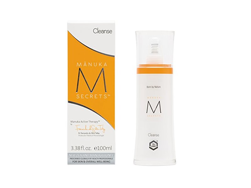 Manuka Secrets Cleanse - Naturally Dissolves Makeup While Replenishing Face, Neck, Decollete with Powerful UMF 18+ Manuka Honey (100ml)
