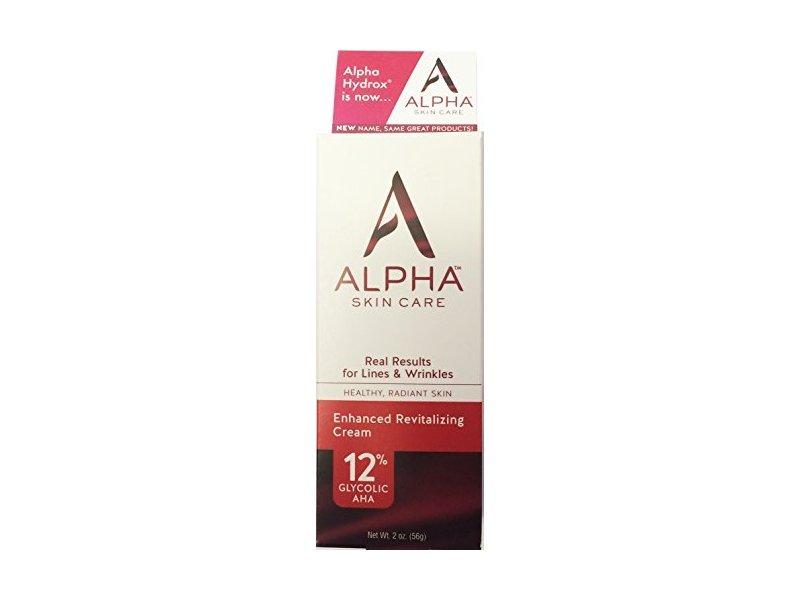 Alpha Skin Care (Alpha hydrox) Facial Enhanced revitalizing Cream 12% Gycolic, 2 oz.