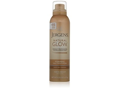 Jergens Natural Glow Foaming Daily Moisturizer Fair to Med 6.25 Ounce