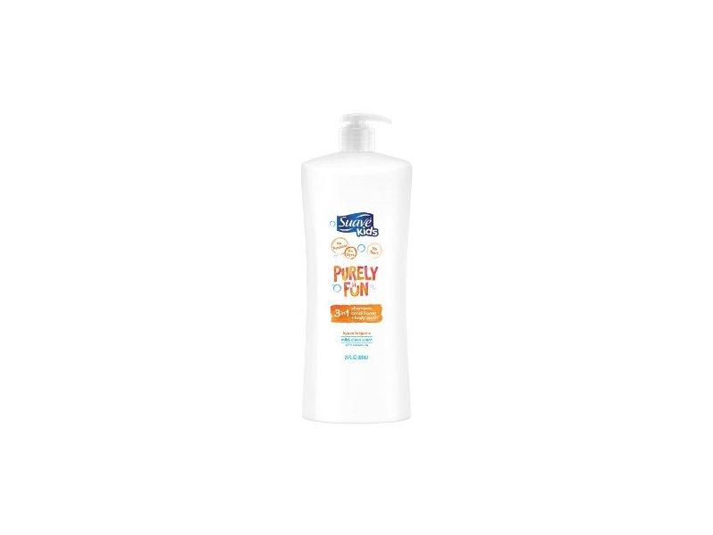 Suave Purely Fun 3-in-1 Shampoo/Conditioner & Body Wash, 28 ounce