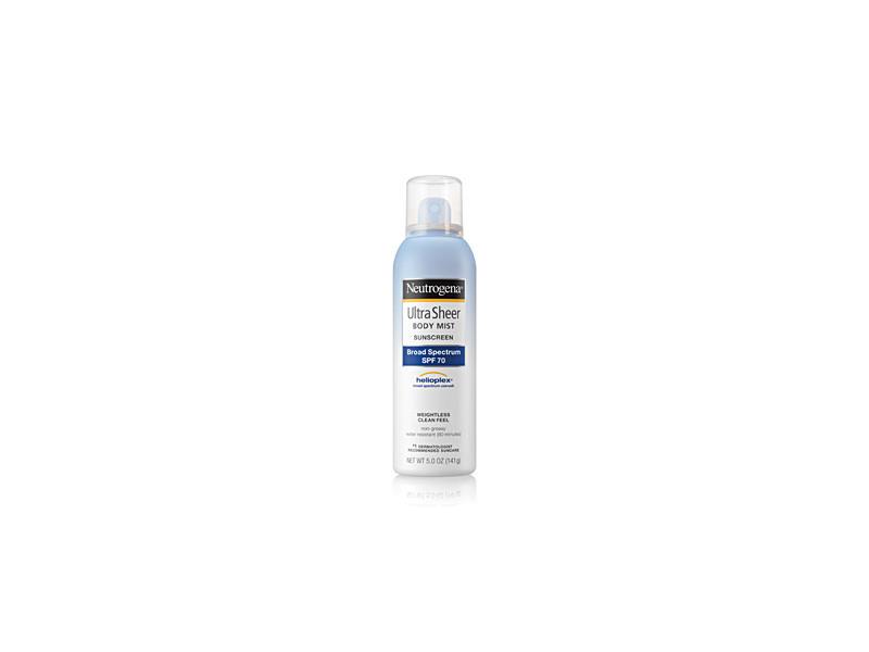 Neutrogena Ultra Sheer Body Mist Sunscreen Broad Spectrum SPF 70, 5 oz