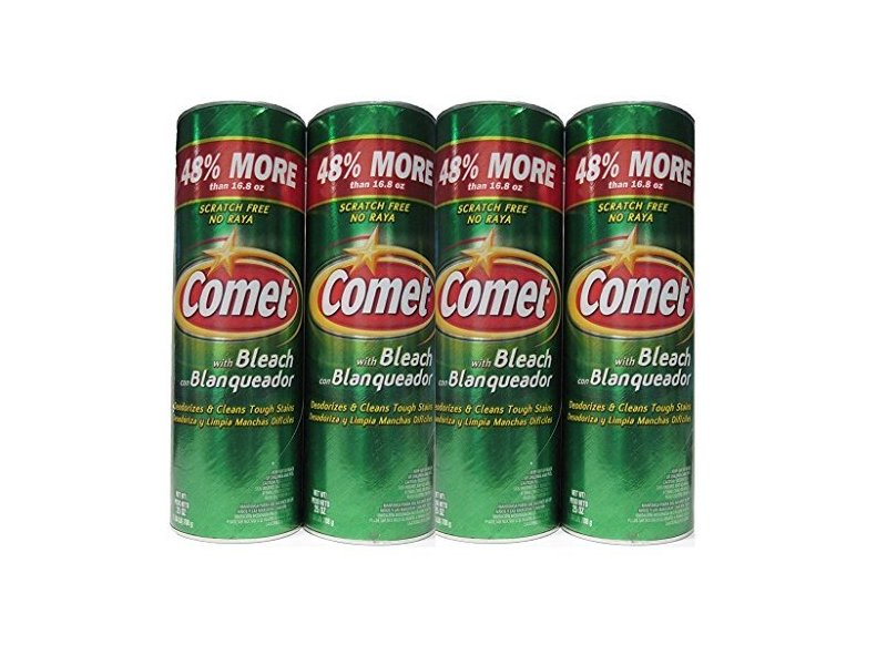 Comet with Bleach Disinfectant Cleanser, 25 oz (Pack of 4)