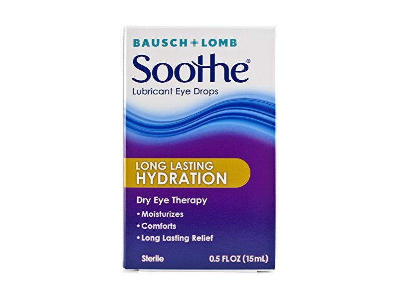 Soothe Long Lasting Lubricant Eye Drops, 0.50 Fluid Ounce