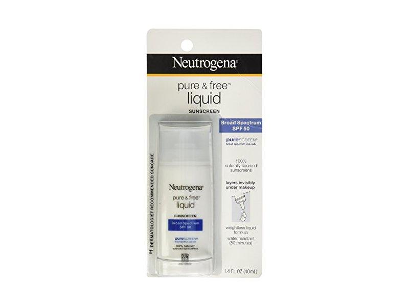 Neutrogena Pure & Free Liquid Sunscreen Broad Spectrum SPF50, Johnson & Johnson