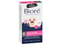 Biore Deep Cleansing Pore Nose Strips Charcoal 6 Count (2 Pack) - Image 4