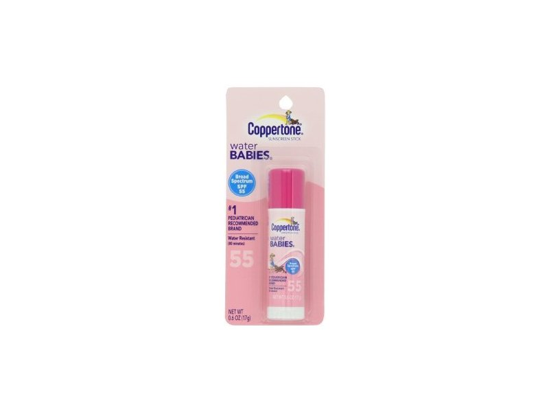 Coppertone Water Babies Sunscreen Stick, SPF 55, 0.6 fl oz