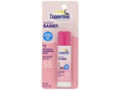 Coppertone Water Babies Sunscreen Stick SPF 55, 0.6 fl oz