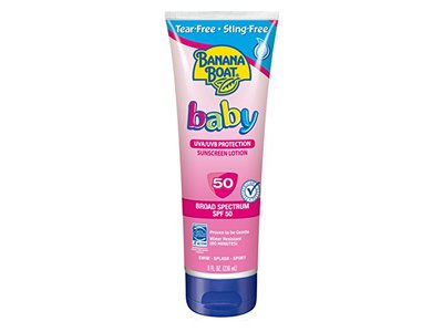 Banana Boat Baby Sunscreen Lotion, Broad Spectrum, SPF 50, 8 fl oz - Image 1