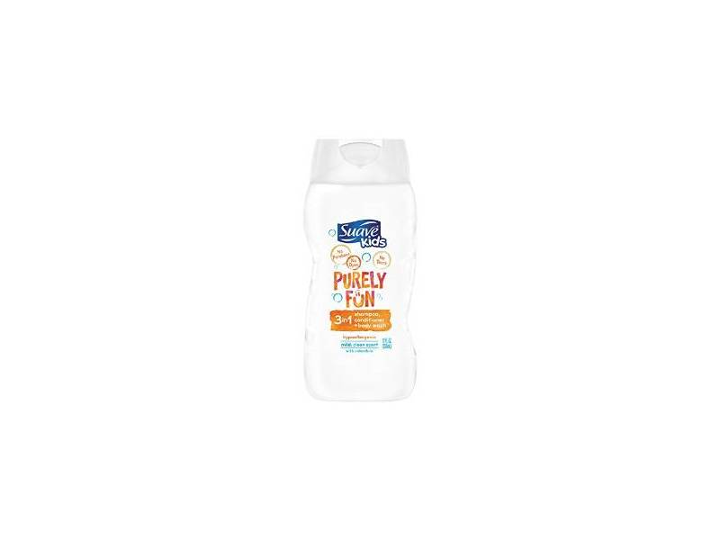 Suave Kids Purely Fun 3 in 1 Shampoo, Conditioner, and Body Wash, 12 fl oz
